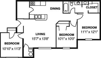 Arbor Grove Apartments Floor plan