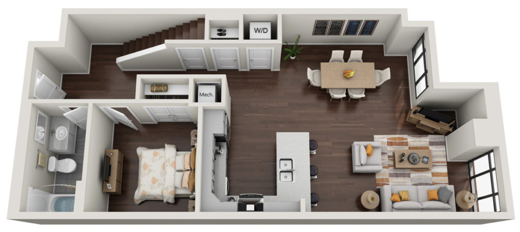 aura downtown apartments floor plan