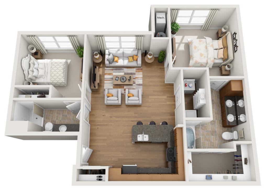 Aura at Quarterpath apartments floor plan