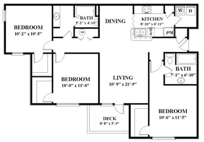 Cedar Grove apartments floor plan