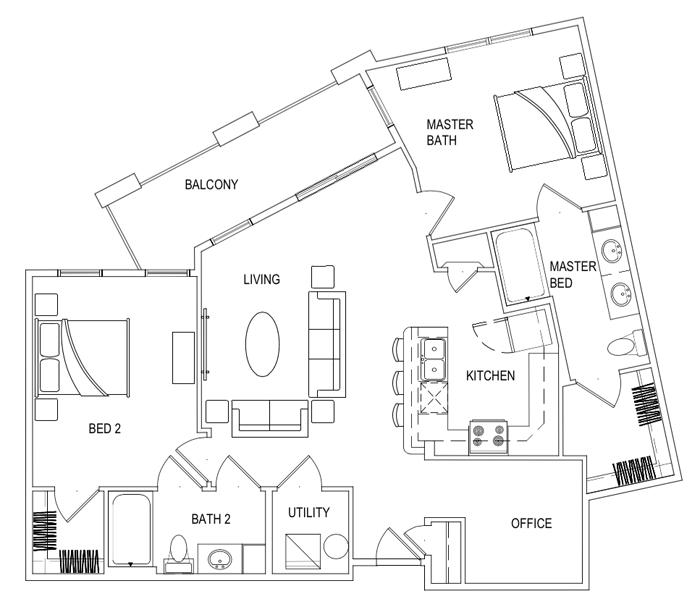 East Beach Marina apartments floor plan