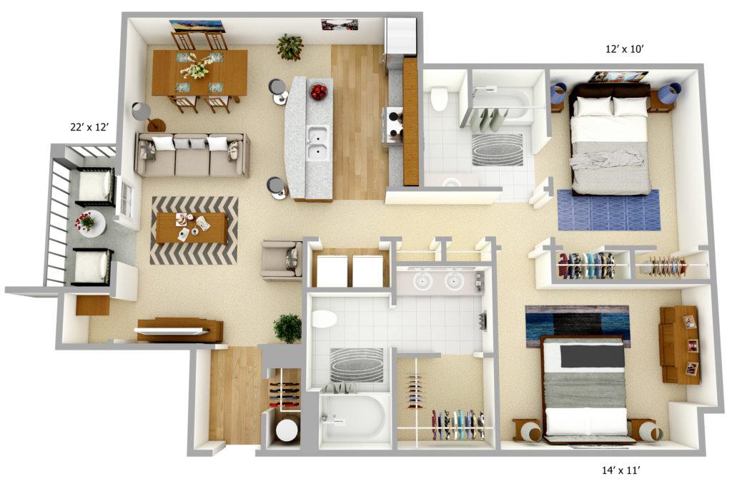 Promenade Pointe Apartments floor plan