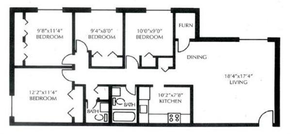 Elevations One apartments floorplan