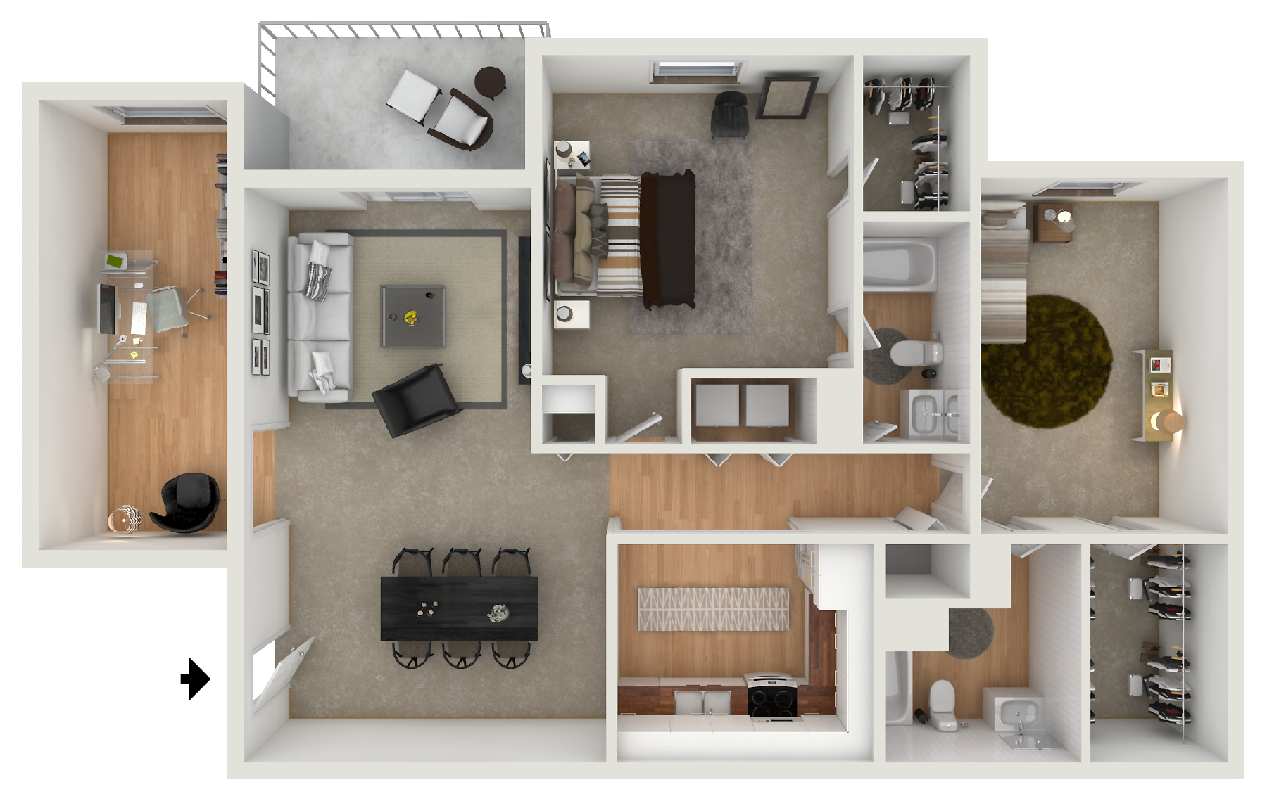 the amber at greenbrier apartments floor plan